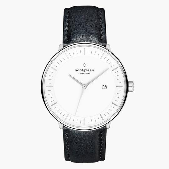 ur med sort læderrem fra nordgren