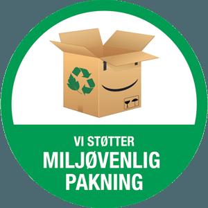 Vi støttet miljøvenlig pakning