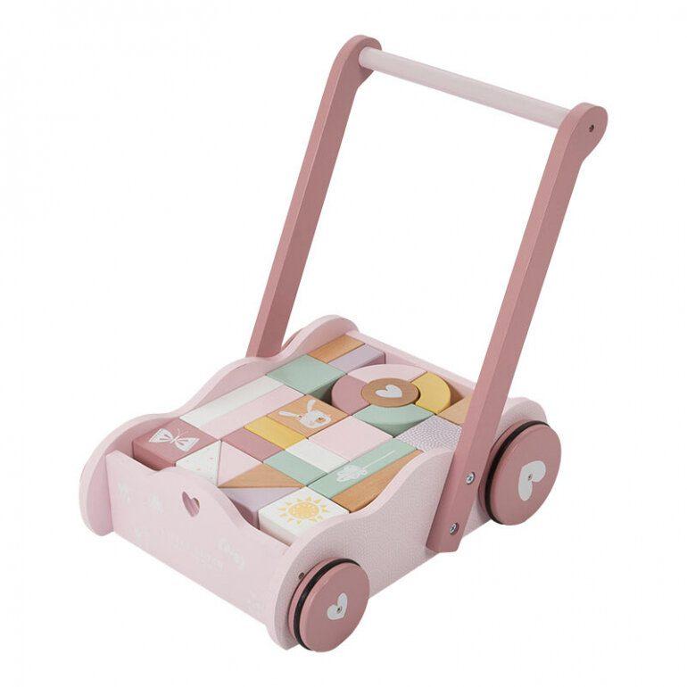 gåvogn i lyserød