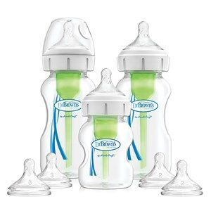 Dr. Brown's Options+ Wide-Nec Gave Sæt med 2x270 ml & 1x150 ml Flaske, 2x L2 & L3 Silicone Teether, 2 Flasker One Size